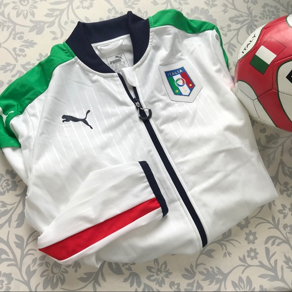 5541b0d20596 Puma NEW men s Italy stadium track soccer jacket